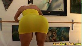 Roundass slut dildo anal