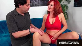 Beautiful Older Redhead Andi James Gorges Herself on Man Meat