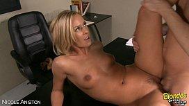 Cute blonde Nicole Aniston take a big cock