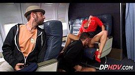 Flight attendant in heat