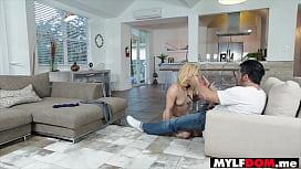 Hot blonde MILF freak trophy wife on a leash