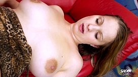 ShootOurSelf Oiled big tits & fucked tight horny pussy thats what blonde love shemale cumming