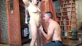 chubby blonde mom first time bdsm lesson