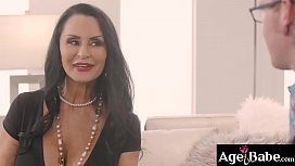 Alison Rey is excited to introduce her new boyfriend to her grandma Rita Daniels to get her blessings in a sexy way by starting a family 3some fuck.