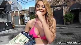 Huge boobs Skyla Novea pounded for money