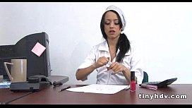 Wet Latina teen pussy Juana Victoria