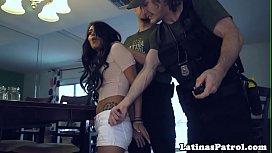 Latina babe doggystyled by US border patrol