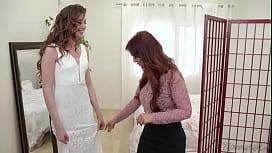 Russian bride Elena Koshka hooks up with step mom Syren De Mer