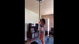 Felicity feline home pole dancing compilation