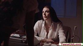 Ebony Jenna Foxx let Angela White fulfills her fantasy