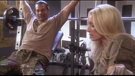 sue diamond fucks marine in gym roon