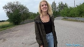 Public Agent Loud outdoor sex for slim pretty lost blonde