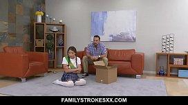 Stepdad fucks cookie selling step-d. - Sami Parker