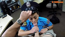 Latina police officer fucked by pawn guy