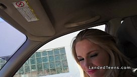 Sexy blonde teen hi iker sucks cock