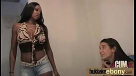 Hot ebony girl fucked by several white guys 9