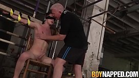 Young twink Taylor Mason bound and blindfolded for torment