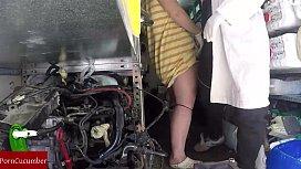 Hidden camera in the mechanic
