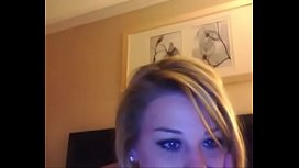 Blonde is bored so she gets on webcam and shows her body - more on camvideos.top