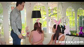 Hot Teen Fucked By Easter Bunny uncle| Famxxx.com