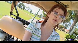 Amazing Redhead cougar found on golf course