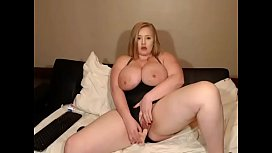 Wow super kinky chubby blonde toying pussy for free cam
