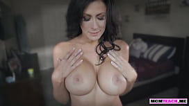 MILF gives her stepdaughters boyfriend a hot titty fuck