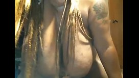 Black BBW with huge tits goes crazy on dildo, screaming bit.do/d5CV2