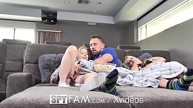SPYFAM Fathers day sneaky movie fuck with step d.