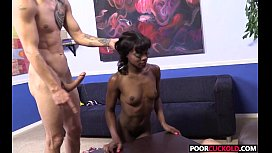 Horny HotWife Ana Foxxx Gets Fucked By BBC In Front Of Her Locked Cocked Cuckold