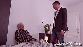 MARISKAX Mature fucks a big dick in front of her husband