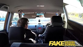 Fake Driving School Naughty learner gets a deep creampie from driving teacher