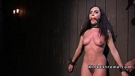 Hairy brunette slave fisted and toyed