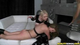 Hot lesbian couple were in a domineering mood
