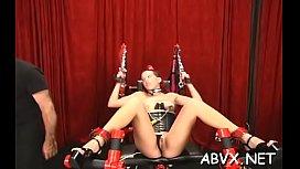 Big boobs hottie hard drilled in extreme bondage xxx scenes