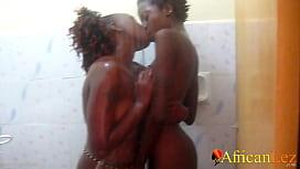 Nigerian Lesbians Shower and Oral Orgasm On WhatsApp Video