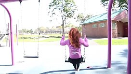 Cams4free.net - Barefoot Redhead on a Swing
