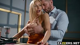 Mike Mancini screwing Alexis Fawx on top of his cock