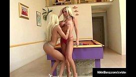 Penthouse Pets Nikki Benz &amp_ Gina Lynn Milk A Big Hard Cock!