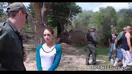 Latina teen caught crossing the border fucks for her freedomp