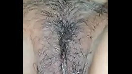 wife hairy pussy and fingering recording