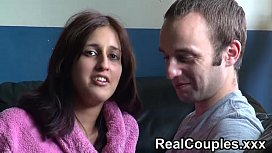 Real couple Zarina and Jay chat before having sex xvideos preview