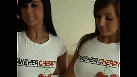 Lacey and Cate: take her cherry