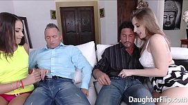 Avi Love and Harley Jade Giving Blowjob and Screwed