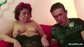 Step-Mom Caught Him Watch Porn and Show how to Fuck Real