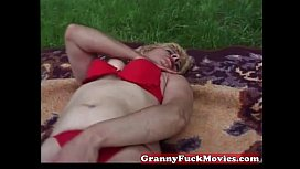 Check out this horny brunette granny