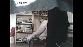 Mom home alone masturbating finally caught by my hidden cam