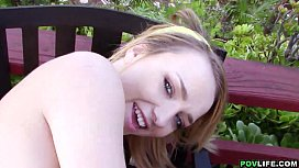 POVLife - Outdoor sex with young petite girlfriend Carmen Callaway xnxx image