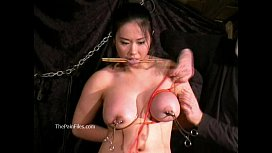Tigerrs asian and oriental tit tortures of busty japanese slave girl