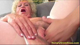 Stud fuck old Judith on the couch
